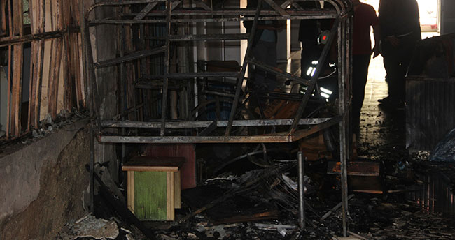 Konya'da pasaj yangını
