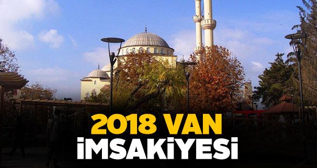 Van İmsakiye 2018 sahur ve iftar vakti!