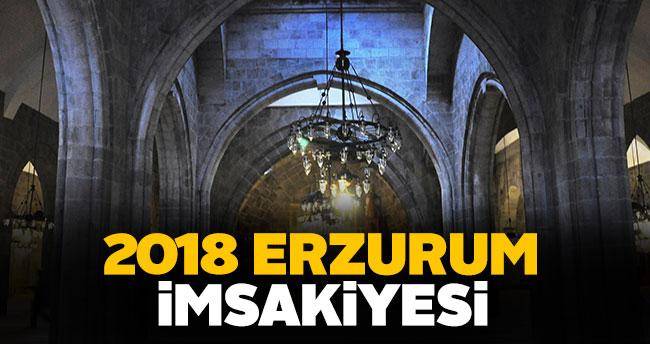 Erzurum İmsakiye 2018 sahur ve iftar vakti!