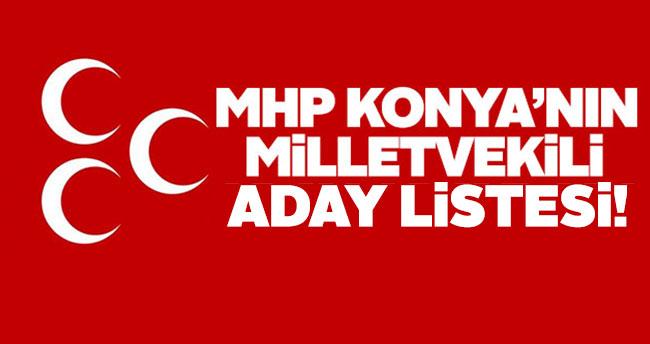 MHP Konya milletvekili aday listesi belli oldu