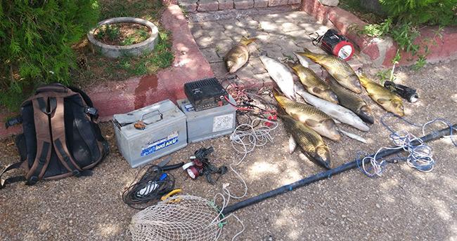 Gölde elektroşokla balık avına 10 bin 644 lira ceza