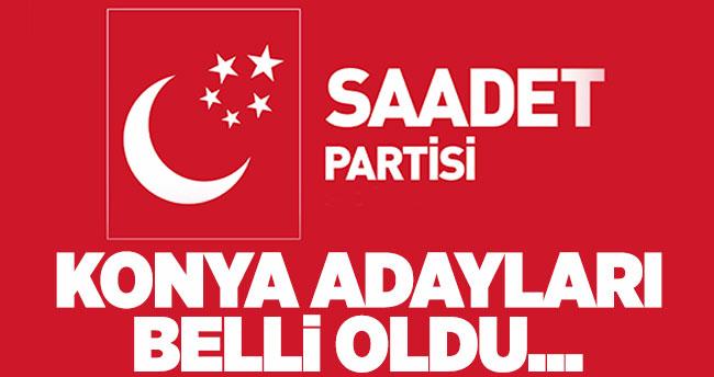 Saadet Partisi Konya milletvekili adayları