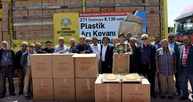 Büyükşehir'den arı üreticisine destek