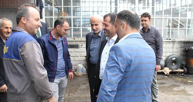 Altunyaldız ve Samancı Beyşehir'de esnafı ziyaret etti