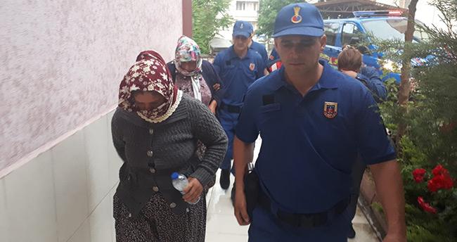 Jandarmada yakalanan suç makinesi 5 kişi tutuklandı