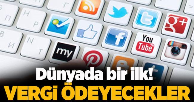 Dünyada bir ilk! Sosyal medya kullananlar vergi ödeyecek