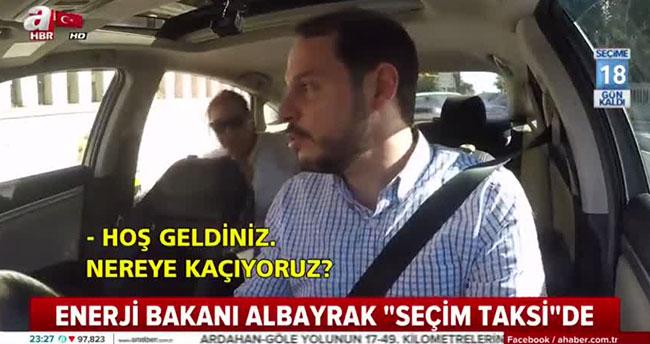 Bakan Albayrak, Seçim Taksi'de