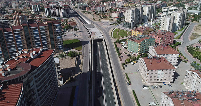Konya'da 4 yeni köprülü kavşaktan alttan geçiş verildi