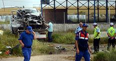 Eskişehir'de feci kaza: 5 ölü, 2 yaralı