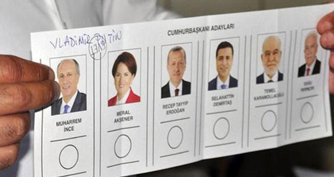 İşte geçersiz oy oranı