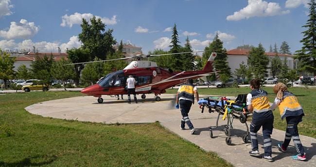 Hava Ambulansı İl Sağlık Müdürlüğü Bahçesine İndi