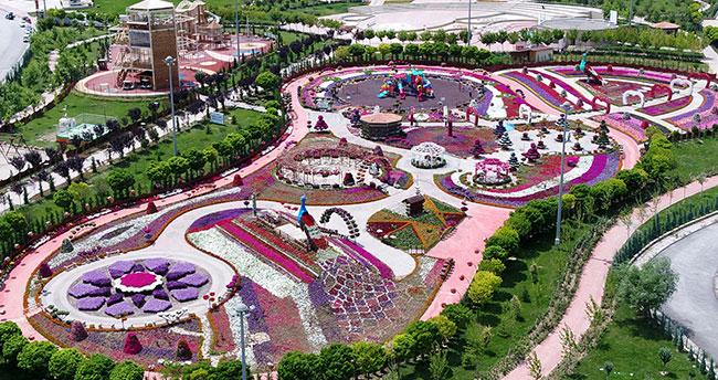 Renklerin buluştuğu yer: Selçuklu Çiçek Bahçesi