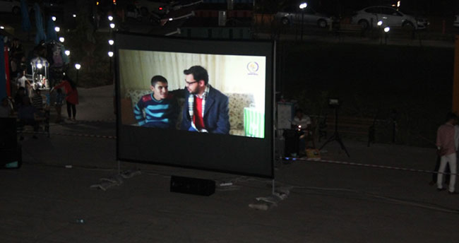 Cihanbeyli'de 'açık hava' sineması