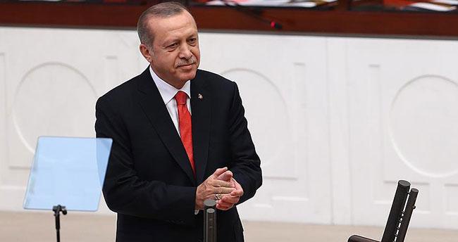 Cumhurbaşkanı Erdoğan yemin için Meclis'te