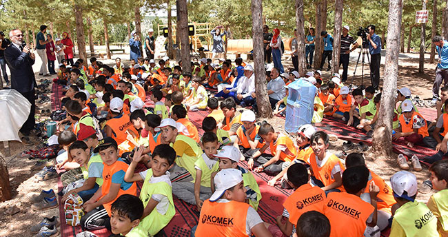 İl Müftüsü Poçanoğlu Yaz Kampındaki Öğrencilerle Buluştu