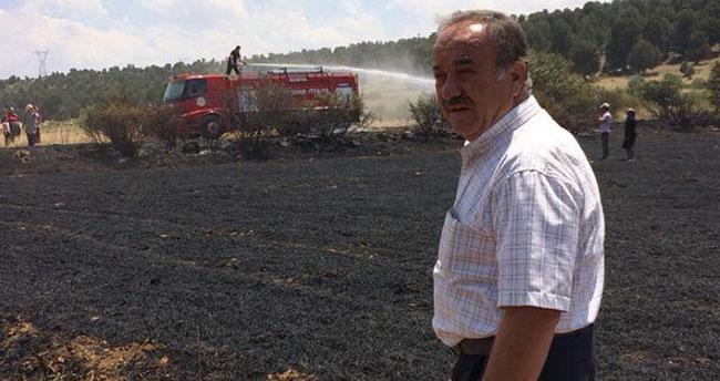 Ağralı, yanan tarım alanlarında incelemede bulundu