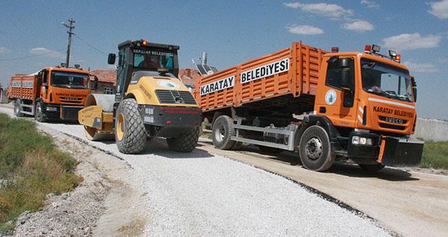 Karatay'da asfaltlanmamış sokak kalmıyor