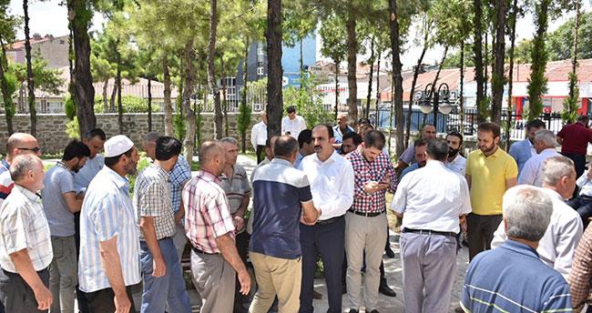 Başkan Altay Sahip Ata Camii'nde Vatandaşlarla Buluştu