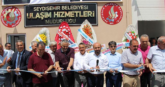 Seydişehir Belediyesi makine parkı hizmet binası açıldı