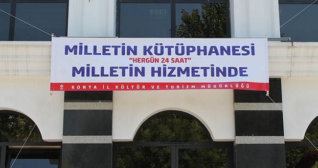 Konya İl Halk Kütüphanesi 24 saat açık