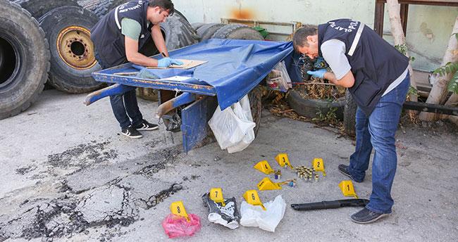 Seyyar satıcının meyve tezgahından pompalı tüfek çıktı