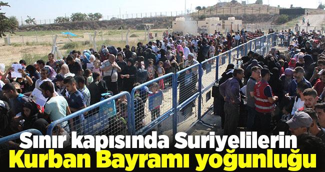 Sınır kapısında Suriyelilerin Kurban Bayramı yoğunluğu