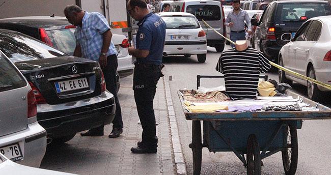 Konya'da seyyar satıcıya kanlı infaz