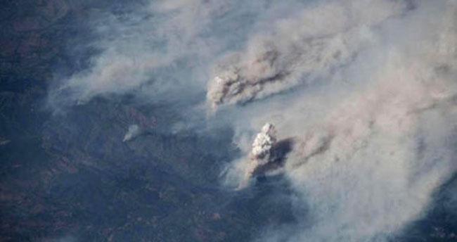 Yangın Felaketi, Uzaydan Görüntülendi