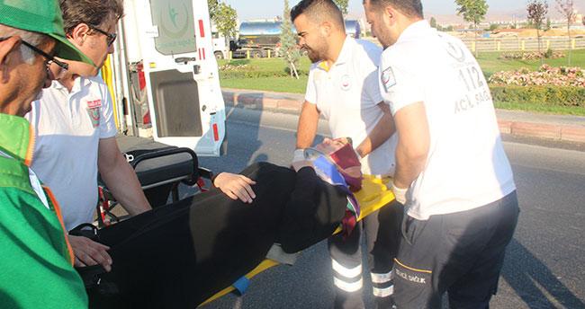 Konya'da servis midibüsü devrildi: 4 yaralı