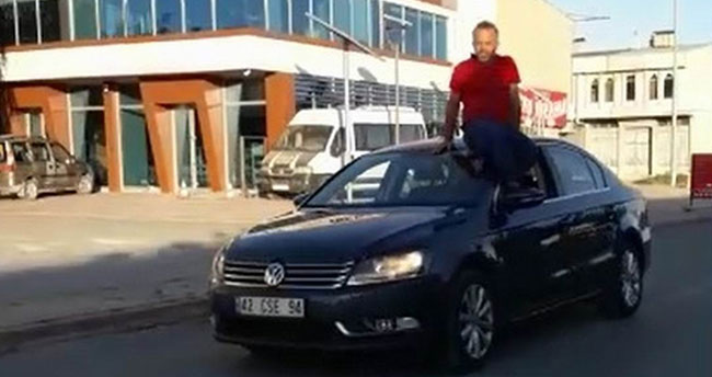 Trafik magandası cezadan kaçamadı