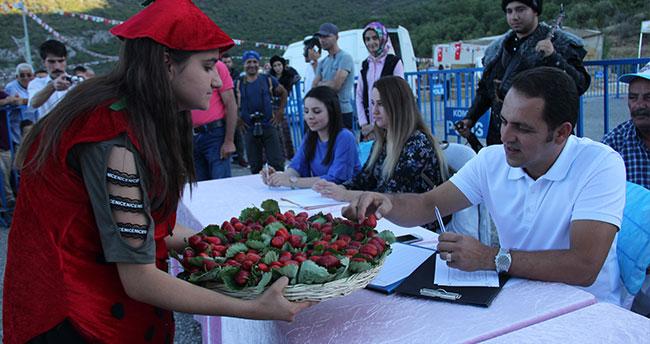 Seydişehir'de en iyi çilek yetiştiriciliği yarışması