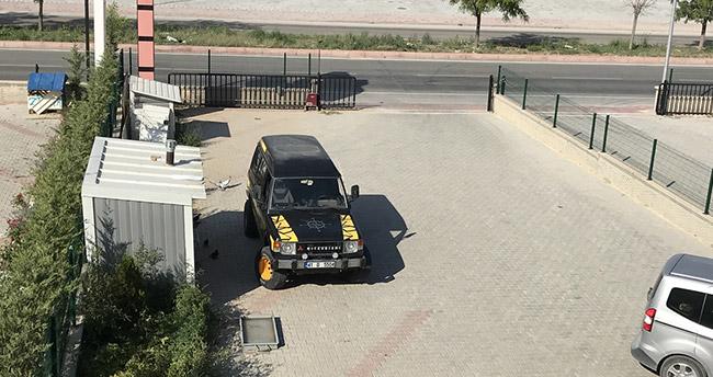Konya'da bekçi köpeğinin çalınması güvenlik kamerasında