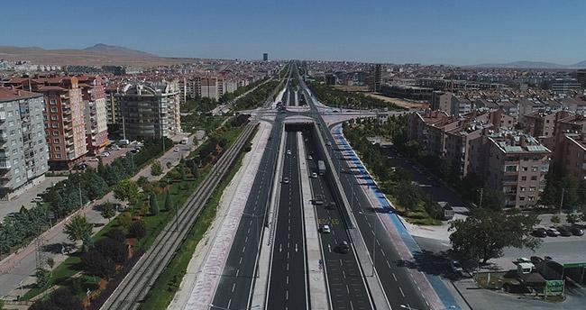 Konya'da 4 yeni köprülü kavşak hizmete açıldı