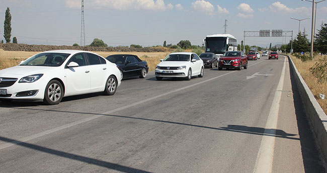 Konya-Seydişehir-Antalya karayolunda trafik yoğunluğu