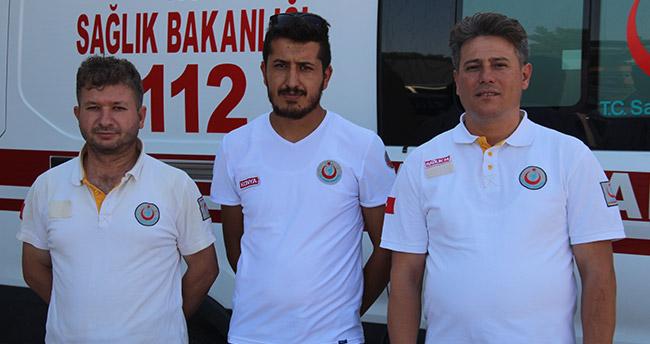 Konya'da 112 çalışanı bu kez insan hayatını değil güvercinin canını kurtardı