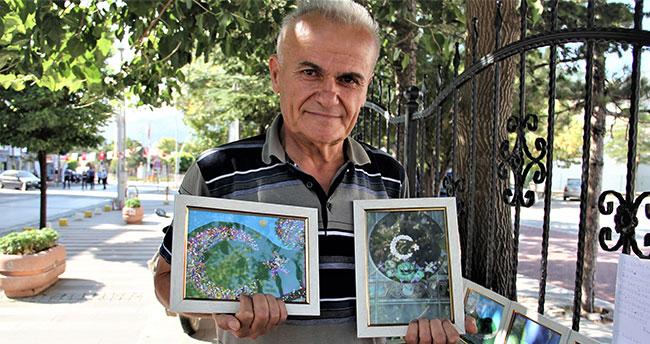 Emekli işçinin resim sergisi
