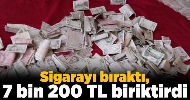 Sigarayı bıraktı, 7 bin 200 TL biriktirdi