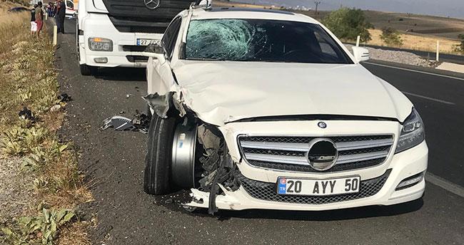 Konya'da otomobil motosiklete çarptı: 1 ölü