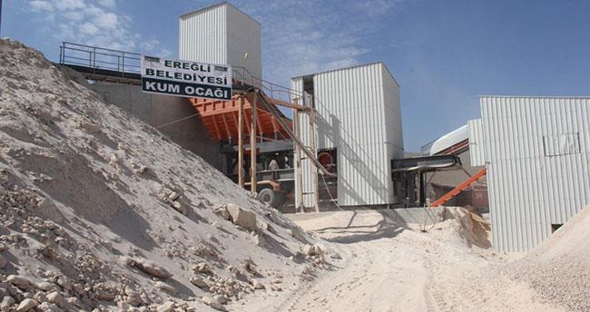 Ereğli Belediyesi kum ocağı açıldı