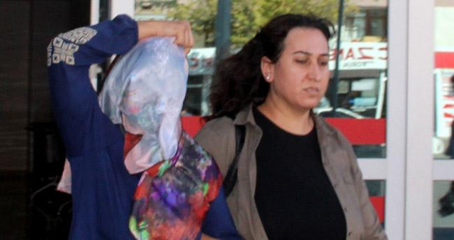 Konya'da anne ve çocuklarının üzerine kimyasal madde attığı iddia edilen kadın tutuklandı