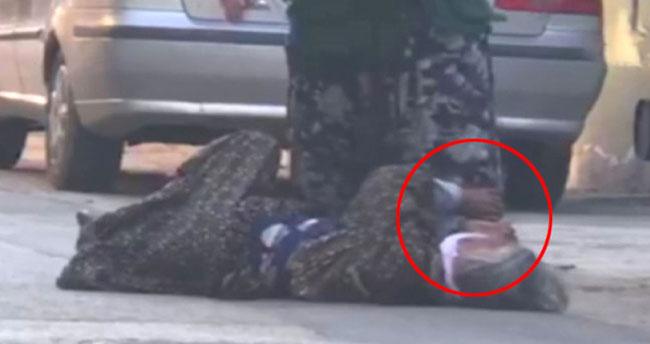 Sokak ortasında kaynanasını dövdü!