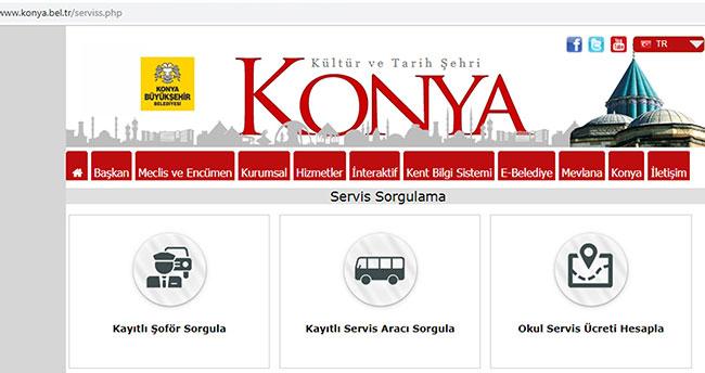 Konya'da okul servisleri internetten sorgulanabilecek