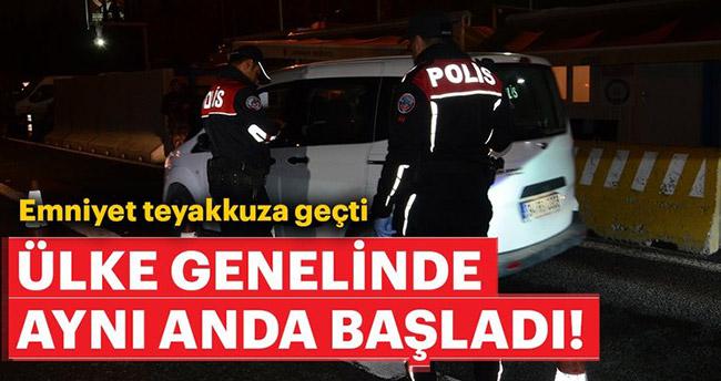 Türkiye genelinde trafik güvenliği uygulaması!