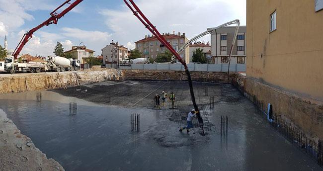 Ilgın'da kültür merkezi inşaatı