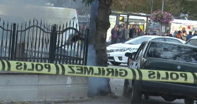 Konya'da şüphelinin bıraktığı şüpheli çanta fünyeyle patlatıldı