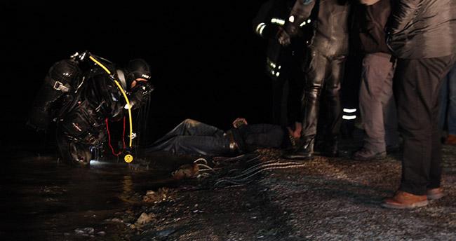 Konya'da baraj gölüne giren otomobilin sürücüsü boğuldu