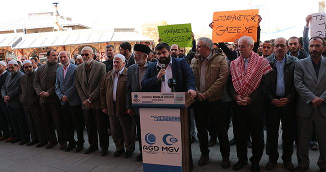 İsrail'in Gazze'ye yönelik saldırıları protesto edildi