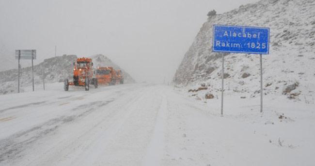 Alacabel'le yoğun kar yağışı uyarısı!