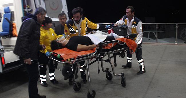 Konyada kendini göğsünden vuran genç ağır yaralandı