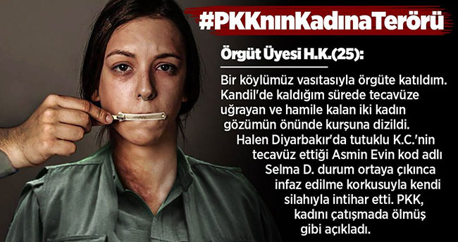 EGM, terör örgütü PKK'nın kadın istismarına dikkat çekti